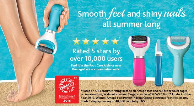 Smooth Feet All Summer Long with Amope in the foot care aisle at CVS...