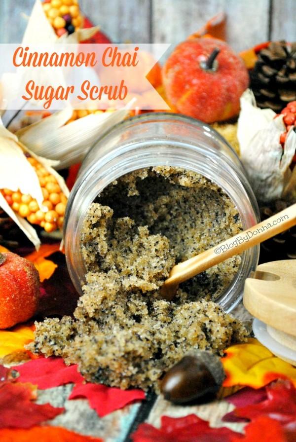Cinnamon Chai Sugar Scrub homemade sugar scrub for face and body. DIY scrubs...