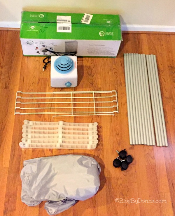 Save with the Simple Living Portable Clothes Dryer unboxed
