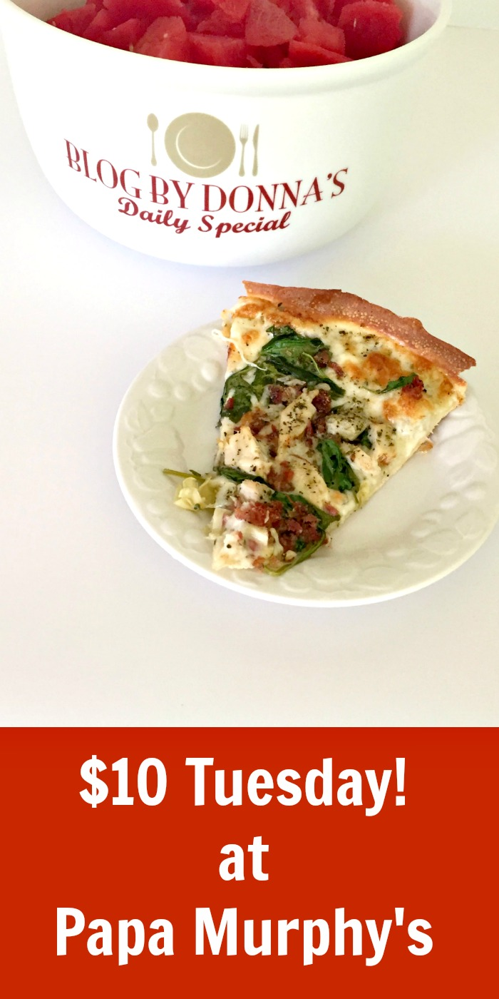 $10 Tuesday pizza from Papa Murphy's budget friendly deals