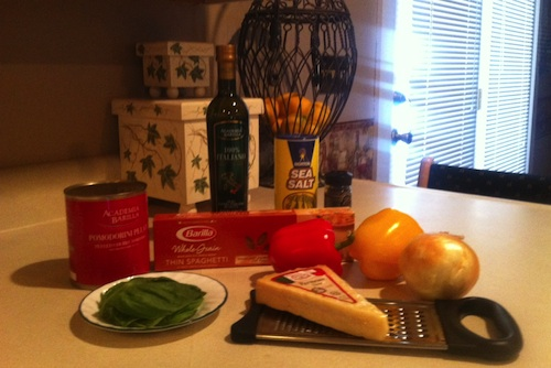 BarillaIngredients Thin Spaghetti with Cherry Tomatoes & Fresh Sweet Peppers Recipe