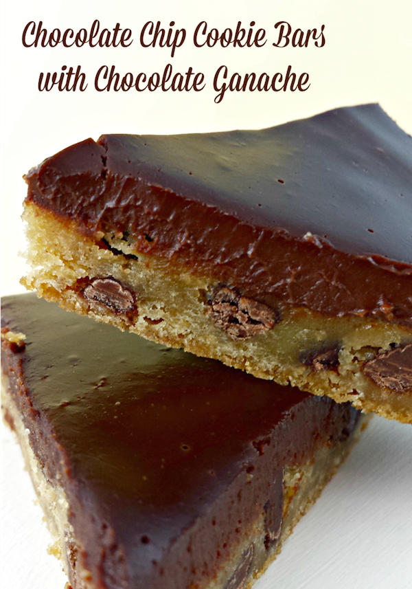 ... Ganache 4 Chocolate Chip Cookie Bars with Chocolate Ganache Topping