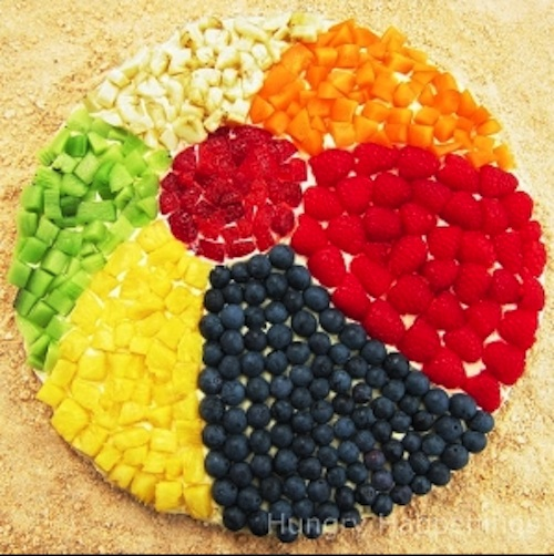 Fruit beach ball platter