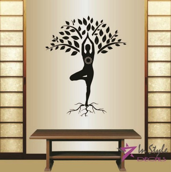 yoga meditation beginners yoga decor wall decal