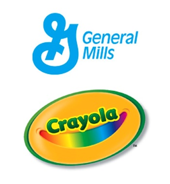 General Mills Crayola BTS logo