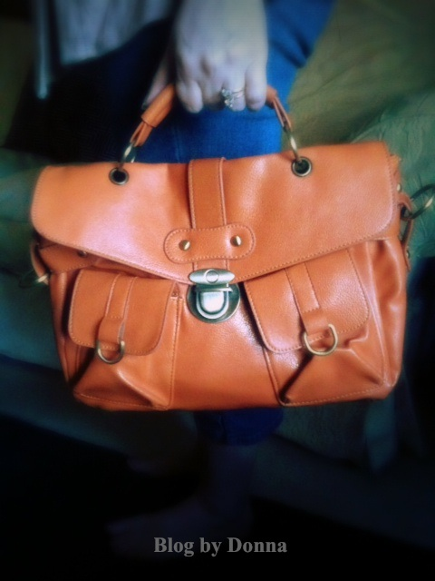 Oasap Orange Bag2 oasap.com