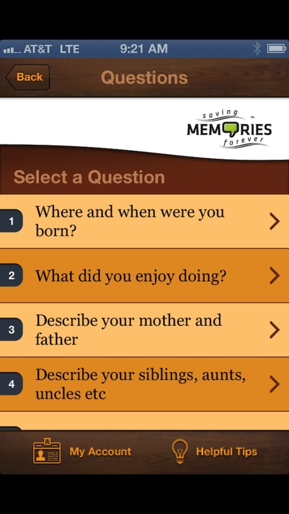 saving memories app