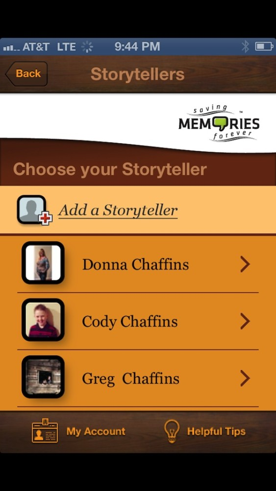 Saving memories forever storytellers