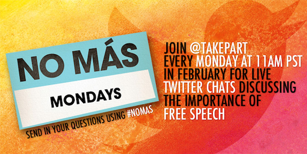 No Mas Mondays Twitter Chats in February