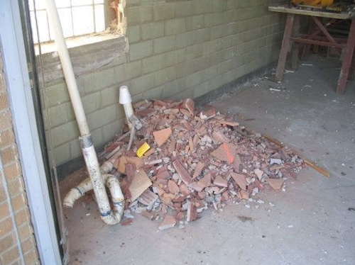 Pile of debris