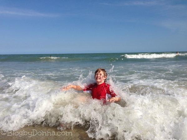 Myrtle Beach 2013 Cody in Ocean 1