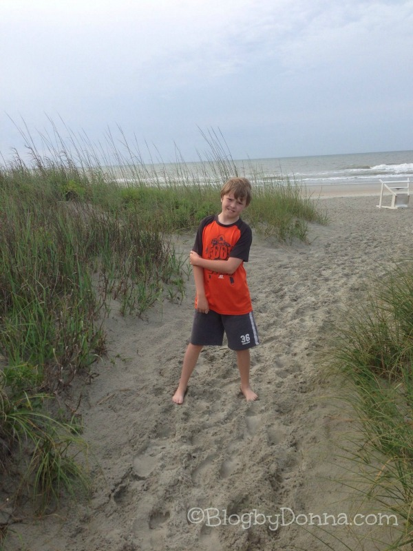 North Myrtle Beach 2013 Cody on Beach 1