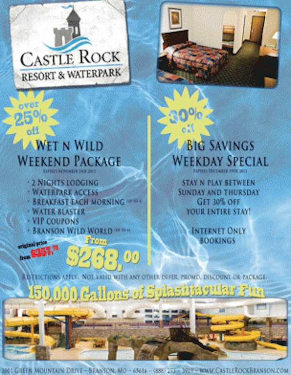 Castle Rock Resort & Waterpark Specials Img
