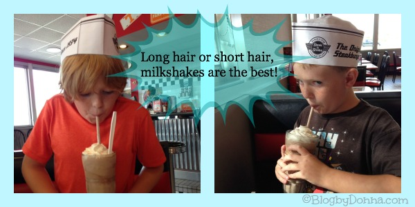 Long hair or Short hair milkshake pic