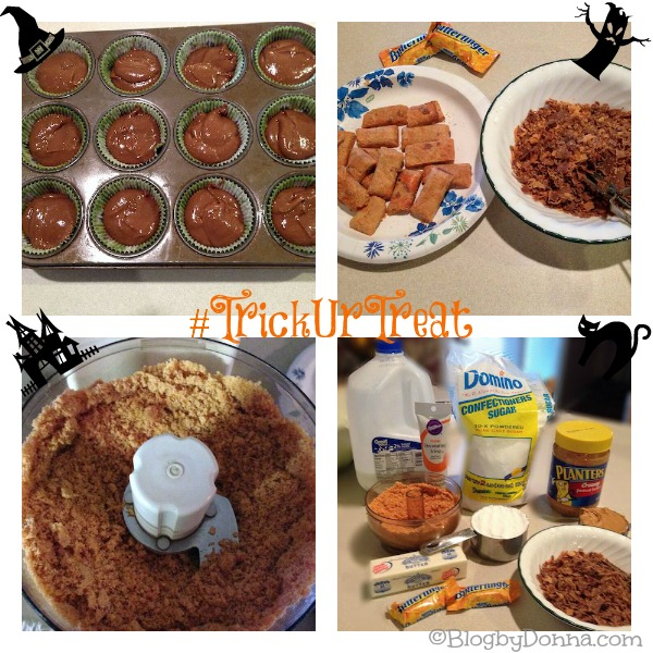 Halloween Butterfinger Cupcake #TrickURTreat #shop #cbias