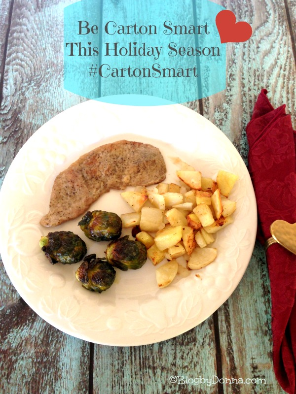Be carton smart #cartonsmart braised sage pork chops