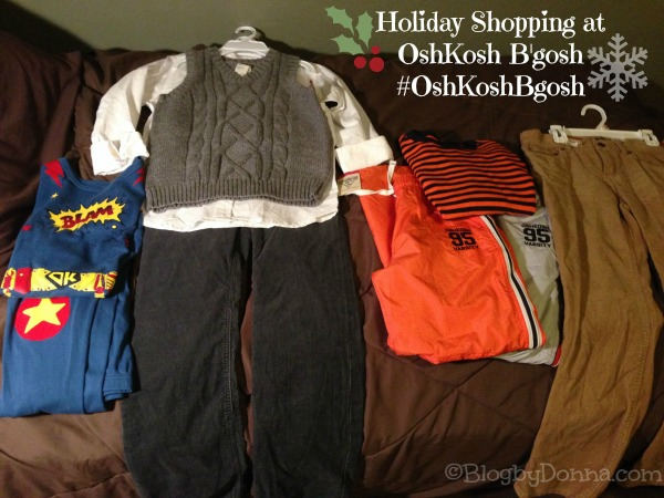 Holiday Shopping at OshKosh B'gosh Haul