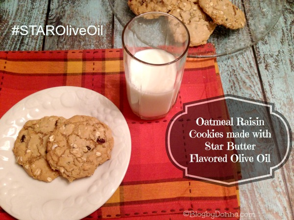 Oatmeal Raisin Cookies with Star buttered flavored olive oil from Walmart #STAROliveOil #shop #cbias