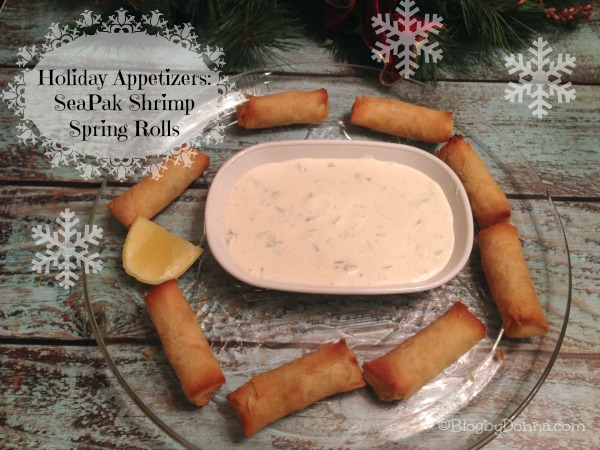 SeaPak Shrimp Spring Rolls Holiday Appetizers party snacks #PakTheParty #shop #cbias