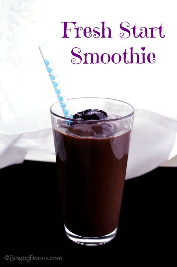 Fresh start smoothie recipe from Blog by Donna https://blogbydonna.com