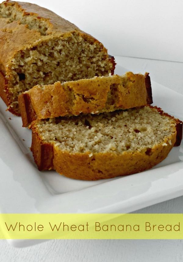 healthy whole wheat banana bread recipe