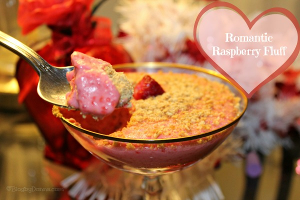 Romantic Raspberry Fluff recipe via Blog by Donna https://blogbydonna.com