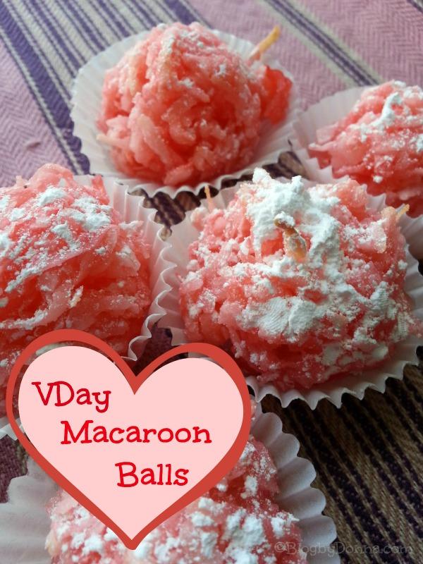 Valentine's Day Macaroon Balls #recipe