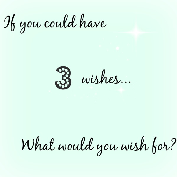 If you could have 3 wishes what would you wish for