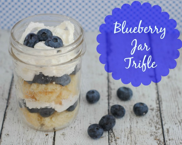 Blueberry jar trifle #recipe via Blog by Donna