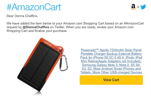 How to shop at Amazon from Twitter #AmazonCart #cbias #shop