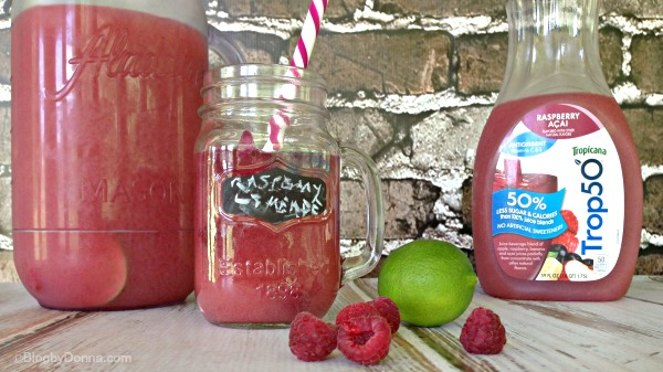 Trop50 Raspberry Acai Limeade recipe #girlsnightin