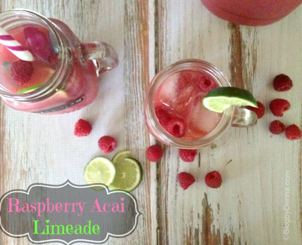 raspberry acai limeade recipe #girlsnightin