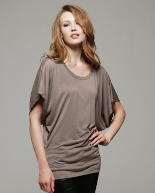 Draped Sleeve Dolman T-Shirt
