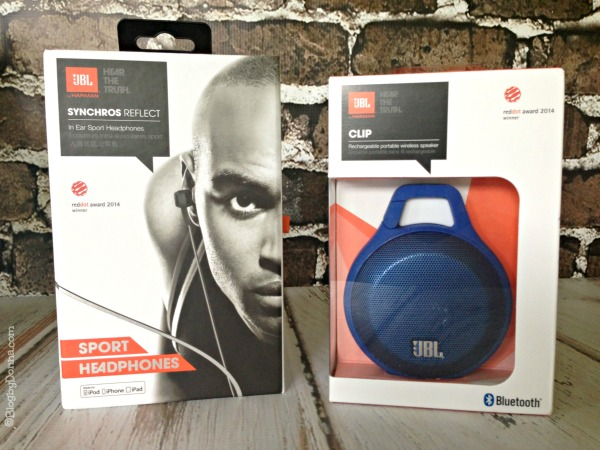 JBL Sport Headphones and JBL Clip Portable Bluetooth Speaker
