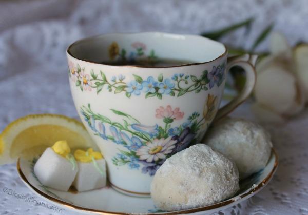 lemon lavender butter cookies recipe for a tea party