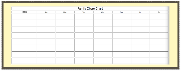 Blank Family Chore Chart #instaclean #cbias #shop
