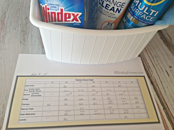 Family Chore Chart Finished #instaclean #shop #cbias