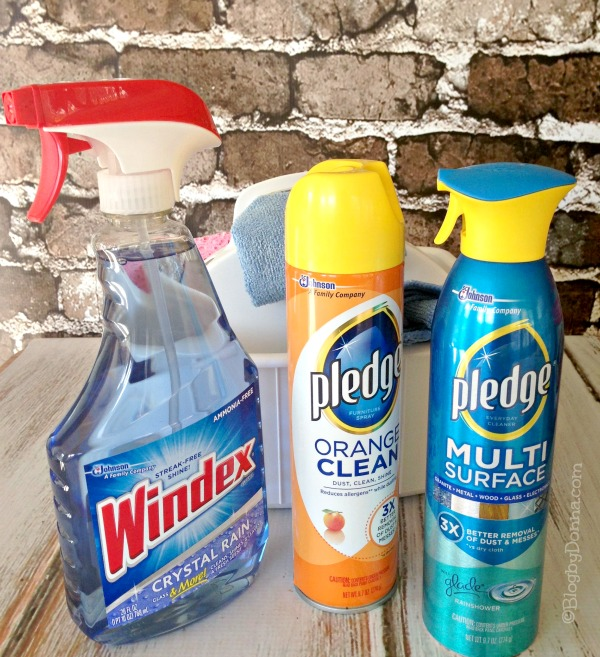 Pledge & Windex for a 10 minute Makeover #instaclean #shop #cbias