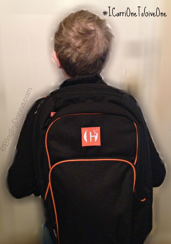 Cody with Carri Backpack #ICarriOneToGiveOne