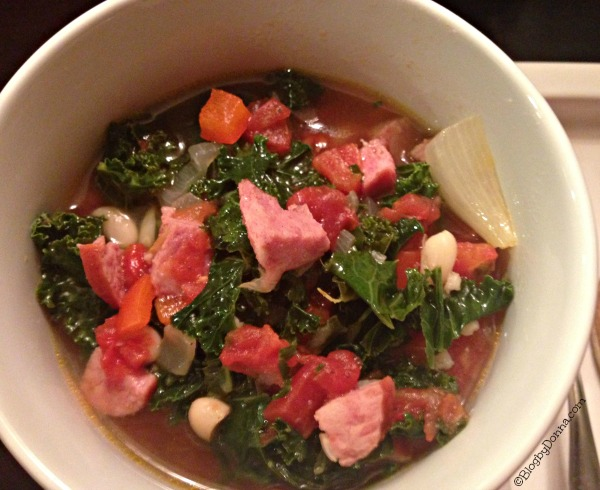 Hillshire Farm Smoked Lite Sausage Kale White Bean Soup Recipe #HillshireSausage