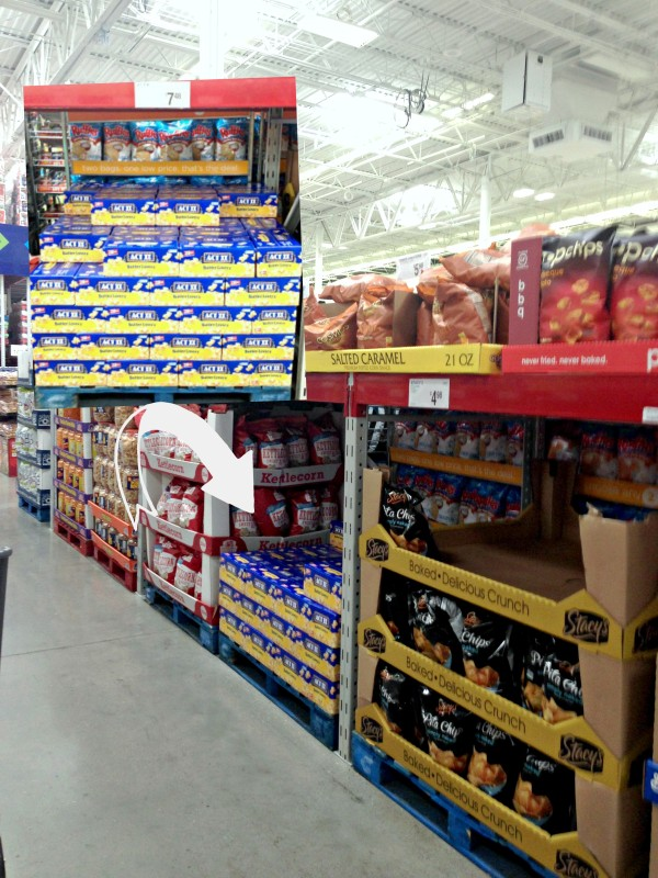 ACT II Popcorn at Sam's Club in aisle 2