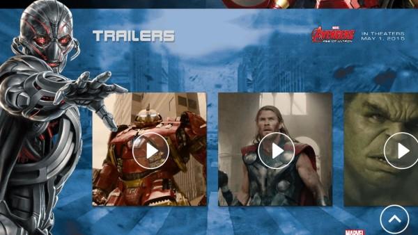 Avengers App Trailers