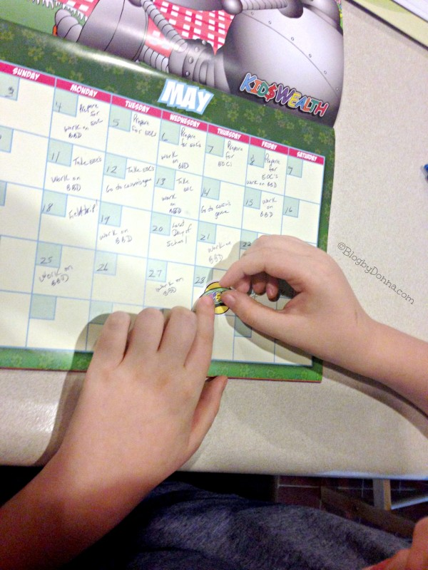 Cody using KidsWealth Calendar May_2015