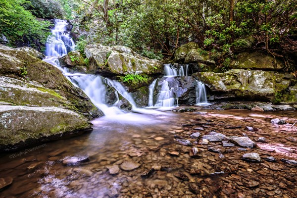 Spruce Flats Falls Smoky Mountains 1