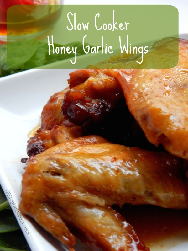 Slow cooker honey garlic wings recipe