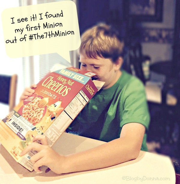 Finding Minion in cereal box #The7thMinion