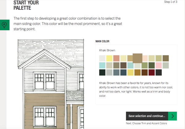 Jame Hardie color choices for exterior home siding