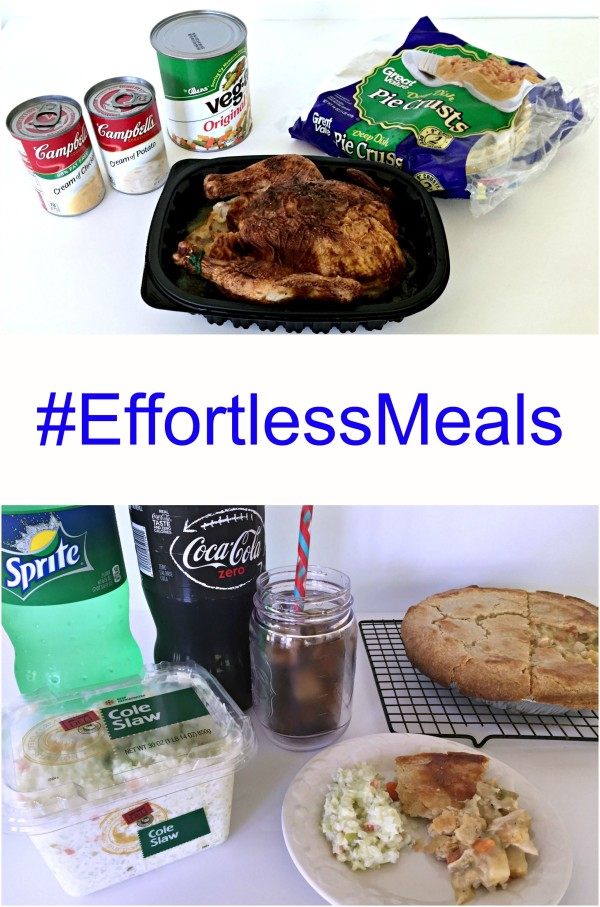 #effortlessmeals from Walmart Chicken pot pie