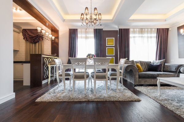 Make a rental property more yours with rugs, lighting, draperies curtains and more