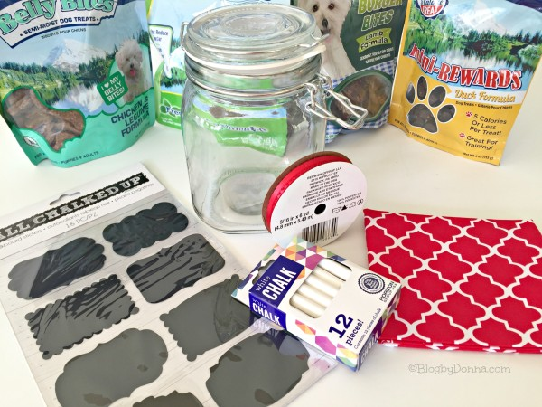 What you need for a DIY dog treat jar